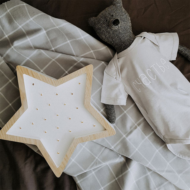 Star / Wooden & White