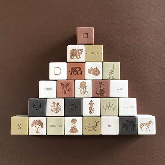 Alphabet Blocks Set / Olive
